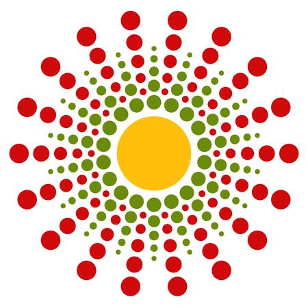 circulos concentricos: Motivo punteado. Estallando, elemento c�rculos conc�ntricos. Vector. Vectores
