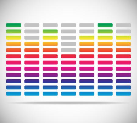 equaliser: Eq, equalizer with bars. Editable vector illustration.