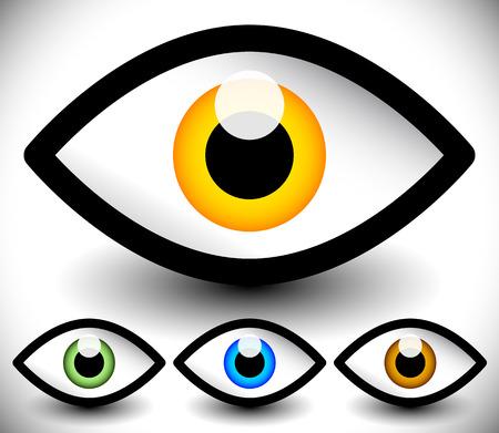 observation: Eye graphic. Vision, seeing, sight, observation. Vector. Illustration