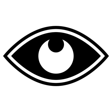 eyes wide open: Eye graphic. Vision, seeing, sight, observation. Vector. Illustration