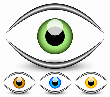 Eye graphic. Vision, seeing, sight, observation. Vector. Illustration