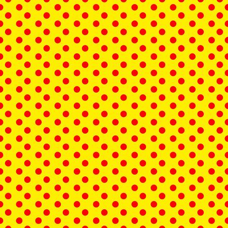 Duotone, red, yellow pop art, polka dot, dotted pattern.