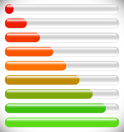 progression: Horizontal progress, loading bars. Steps, phases, progression.