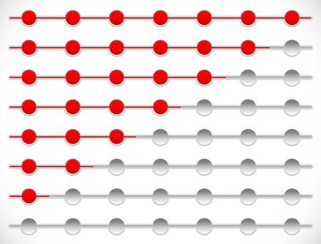 incremental: Horizontal progress, loading bars. Steps, phases, progression.
