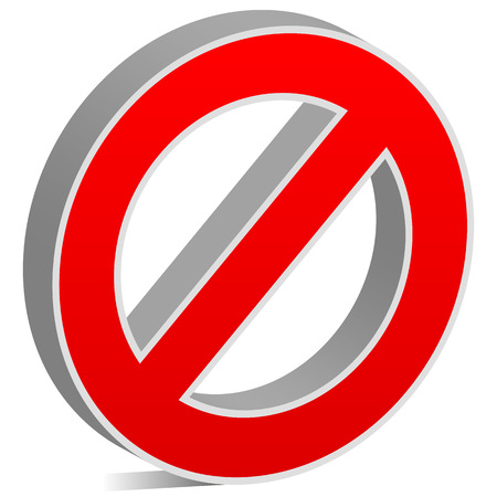no access: Prohibition, restriction, no entry sign. For no access, prevention themes. Illustration