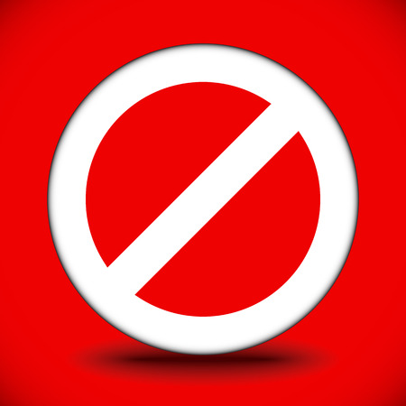 abstain: Prohibition, restriction, no entry sign. For no access, prevention themes. Illustration
