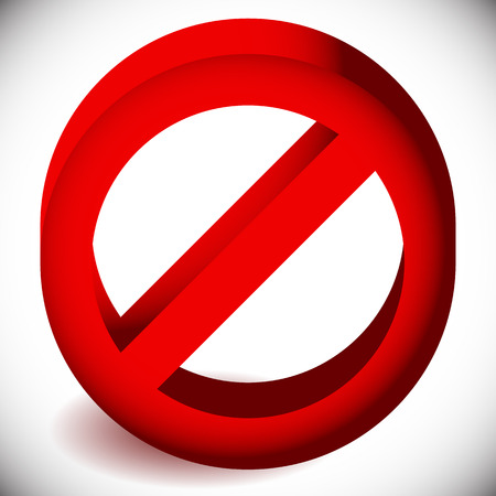 restriction: Prohibition, restriction, no entry sign. For no access, prevention themes. Illustration