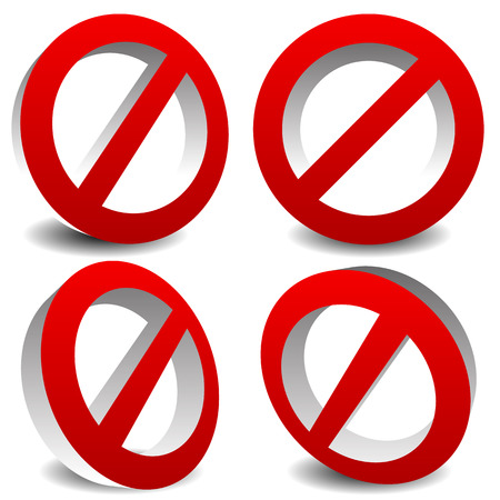 disallowed: Prohibition, restriction, no entry sign. For no access, prevention themes. Illustration