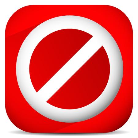 prohibition: Interdiction, de restriction, aucun signe d'entrée. Pour pas accès, des thèmes de prévention. Illustration