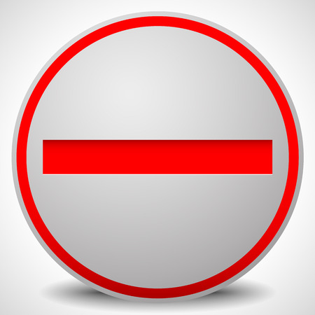 interdiction: Interdiction, de restriction, aucun signe d'entrée. Pour pas accès, des thèmes de prévention. Illustration