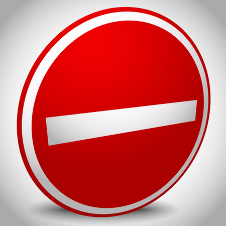 strikethrough: Prohibition, restriction, no entry sign. For no access, prevention themes. Illustration