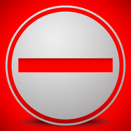 restrictive: Prohibition, restriction, no entry sign. For no access, prevention themes. Illustration