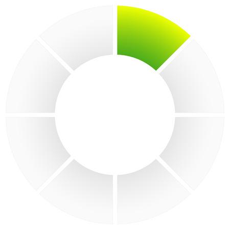 Preloader or buffer symbol, segment circle, circular progress indicator. Illustration