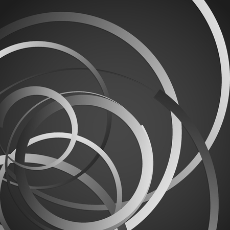 grayscale background: Abstract monochrome, grayscale background with scattered, random circles Illustration