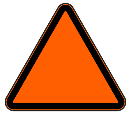 Road sign isolated on white. Editable vector graphic.