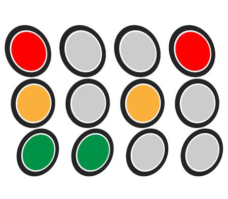 trafic stop: Traffic Light  Traffic Lamp set. Vector Illustration.