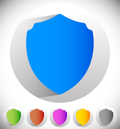 defense: Shield shape for protection, defense concept. Vector.