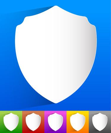 sheild: Shield shape for protection, defense concept. Vector.