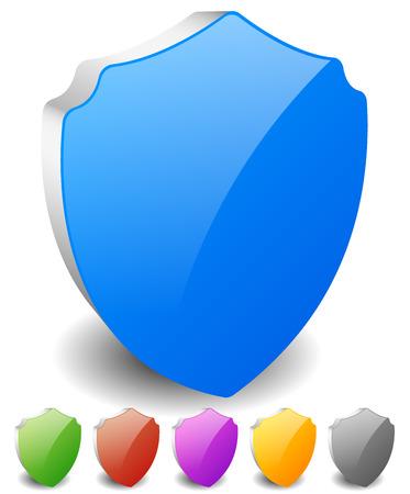 escudo: Proteja forma para la protecci�n, el concepto de defensa. Vector.