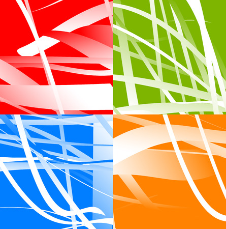 abstractionism: Set of 4 abstract background with random, distorted shapes.