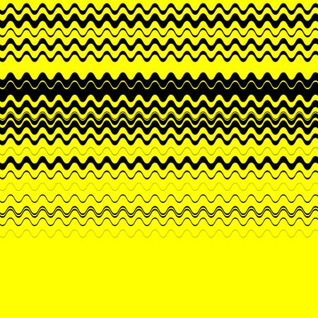 lineas horizontales: Zigzag, líneas horizontales nervioso textura. Imagen del vector. Vectores