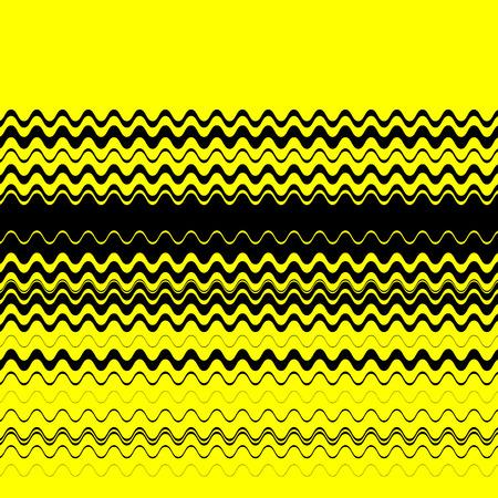 lineas horizontales: Zigzag, l�neas horizontales nervioso textura. Imagen del vector. Vectores