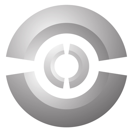marksmanship: Target mark, reticle, cross hair vector graphic
