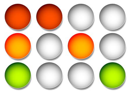 señales trafico: lámparas de tráfico, semáforos, ilustración vectorial de semáforos