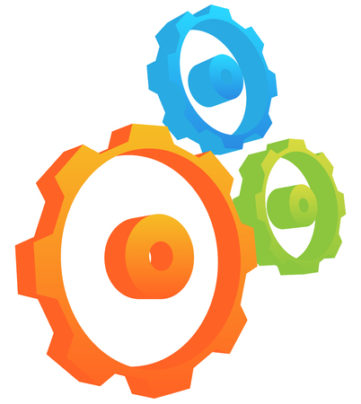 developement: Abstract gear wheel, gear, cogwheel graphic. Vector. Illustration