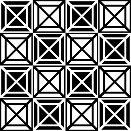 eyestrain: Contrasty seamless pattern with squares. Vector art.