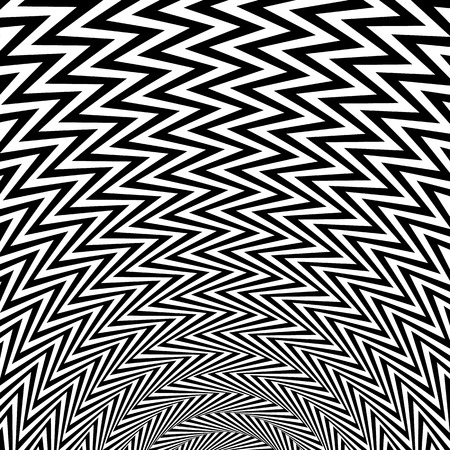 lineas onduladas: Abstract starburst background with zigzag, wavy lines Vectores