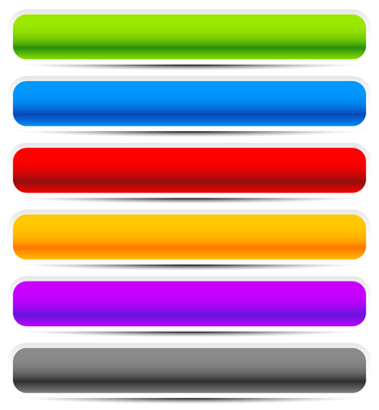 rounded: Set of oblong button, banner backgrounds in several colors. Illustration