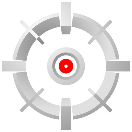 finder: Target mark, reticle, cross hair vector graphic