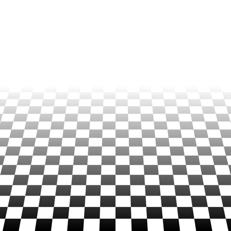 fading: Checkered plane fading to transparent. Vector art. Illustration