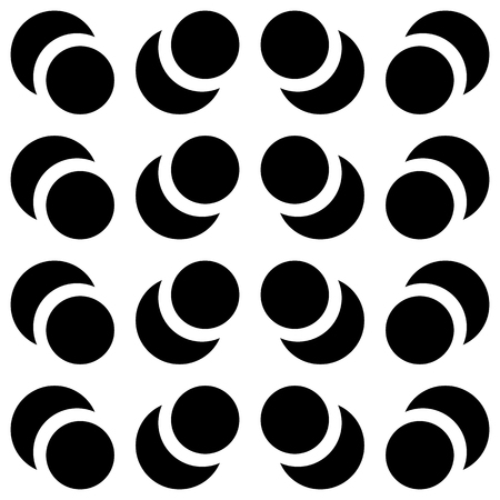 repeatable: Repeatable contrasty pattern with alternating, intersecting circles.