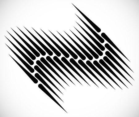 pointed: Pointed lines in wavy fashion. Abstract element.