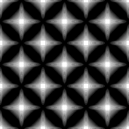 abstractionism: Abstract repeatable pattern with outline blended squares. Vector art.