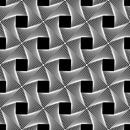 abstractionism: Seamless pattern with intertwined, braided, connected lines texture. Vector art.