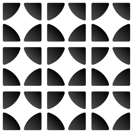 quarters: Simple repeatable pattern with circles divided to quarters. Vector art.