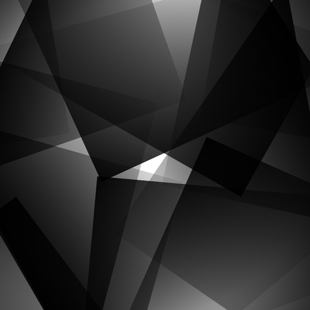 monocrome: Abstract artistic edgy pattern, background with randomly scattered, pointed, angular shapes