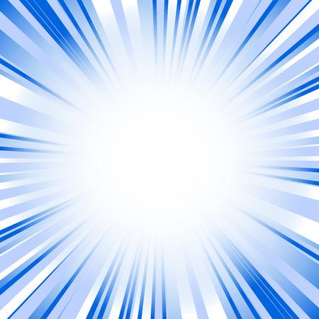 light emission: Starburst, sunburst background. Converging, radial, radiating lines. Illustration