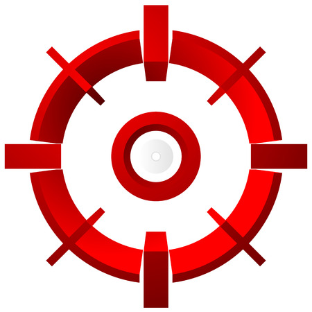 reticle: Target mark, reticle, cross hair vector graphic