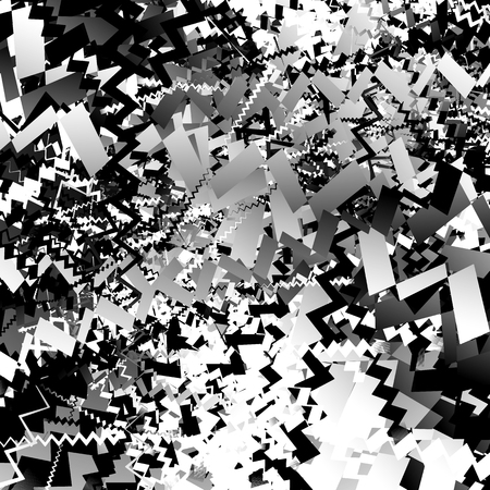 abstractionism: Abstract artistic edgy pattern, background with randomly scattered, pointed, angular shapes