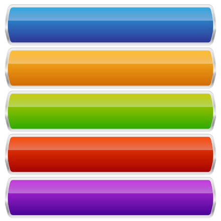 oblong: Empty rectangular button, banner backgrounds with rounded corners Illustration