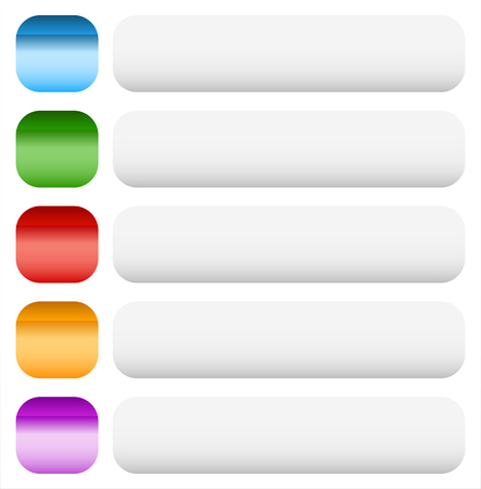 tabs: Empty button, banner background in more colors. Illustration