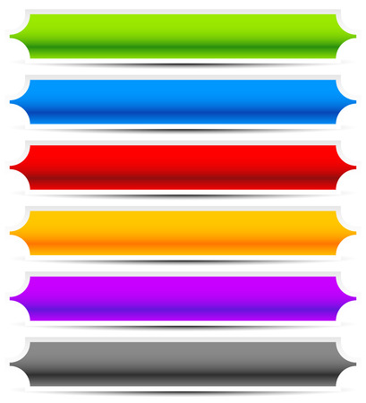 oblong: Set of oblong button, banner backgrounds in several colors. Vectores