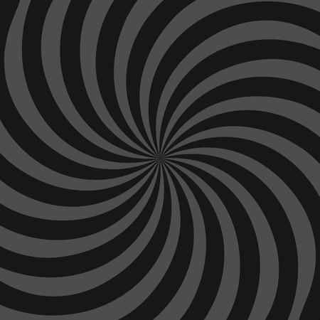 whorl: Spiral, vortex, swirl or twirl abstract monochrome graphic. Vector.