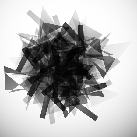 edgy: Abstract textured, edgy, monochrome graphic. Vector art.