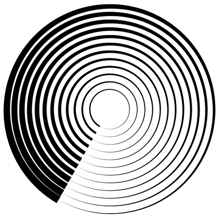 abstractionism: Abstract circular element on white. Vector art.