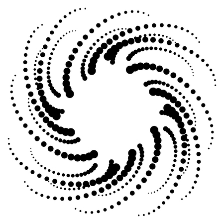 spiral pattern: Dotted circular motif, dotted spiral pattern. Vector.